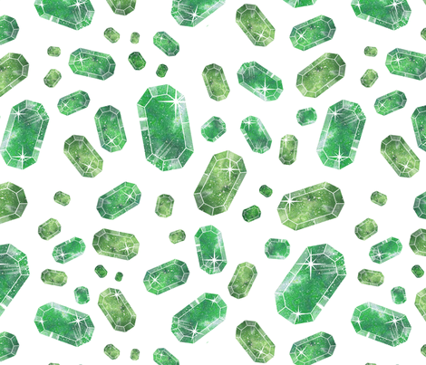emerald pattern fabric by suzyspellbound on Spoonflower - custom fabric