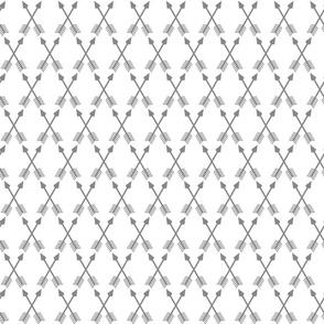 Crossed Arrows in Grey