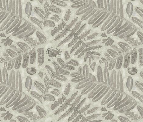 FOSSILIZED FERNS fabric by nadinewestcott on Spoonflower - custom fabric