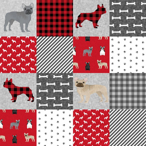french bulldog pet quilt a dog breed fabric collection cheater quilt wholecloth