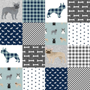 french bulldog pet quilt b dog breed fabric collection cheater quilt wholecloth