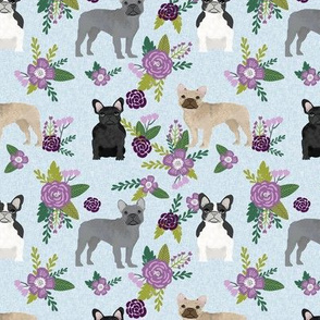 french bulldog pet quilt c dog breed fabric collection floral