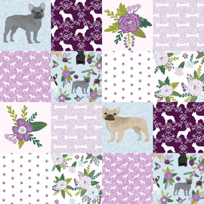 french bulldog pet quilt c dog breed fabric collection cheater quilt wholecloth