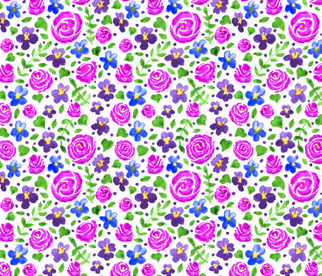 Roses are pink fabric by leroyj on Spoonflower - custom fabric