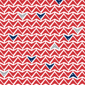 Take Flight - Geometric Red, Navy & Gray