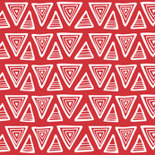 Triangulate - Geometric Red