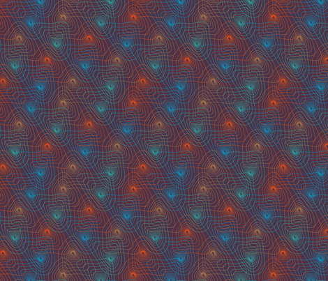 Psychedelic Contour Maps fabric by pinkdeer on Spoonflower - custom fabric