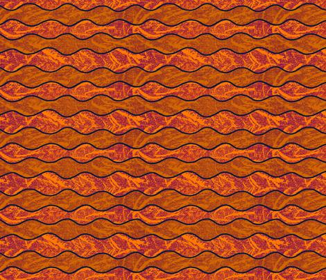 Lava Waves fabric by qideaz on Spoonflower - custom fabric