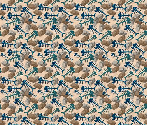 Fossil Fish fabric by lilly_lynne_designs on Spoonflower - custom fabric