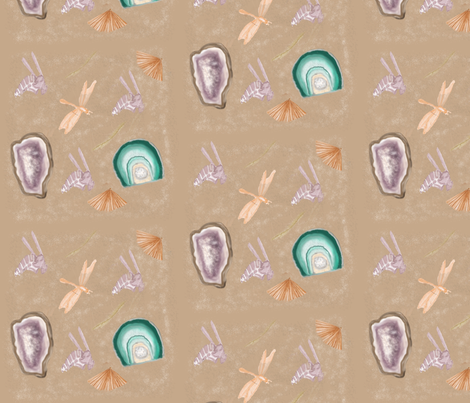 Fossils and Geodes fabric by chovy on Spoonflower - custom fabric