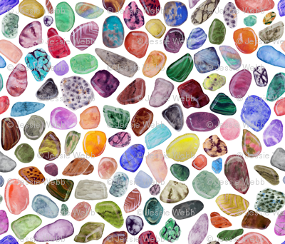 Watercolor Rock Collection