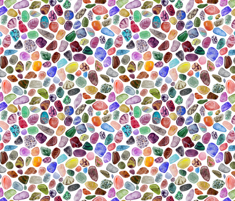 Watercolor Rock Collection fabric by artfully_minded on Spoonflower - custom fabric