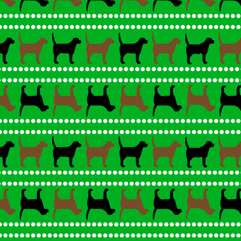 Pooches and Pickups Pooches Green fabric by lauriewisbrun on Spoonflower - custom fabric