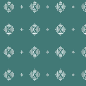 Tribal Diamond-teal