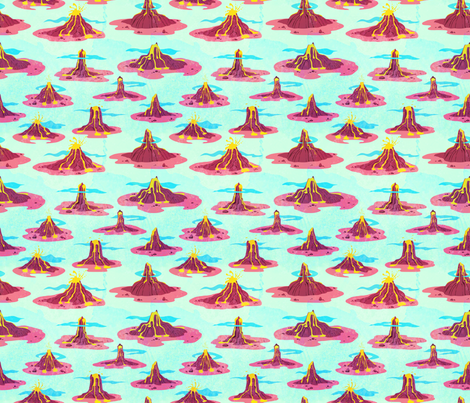 I Lava Volcanoes! fabric by cynicalwoman on Spoonflower - custom fabric