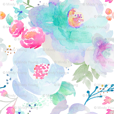 Indy Bloom Design Floral blues B2