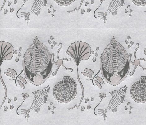 fossil fantasy fabric by dizzybeedesigns on Spoonflower - custom fabric