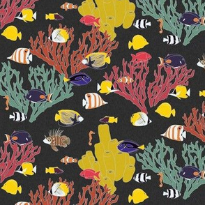 Small Scale Reef Fish on Charcoal