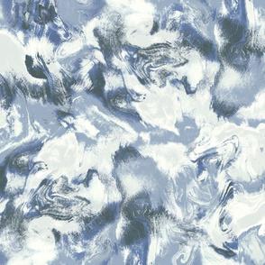 Marble Mist Slate Blue Large Scale