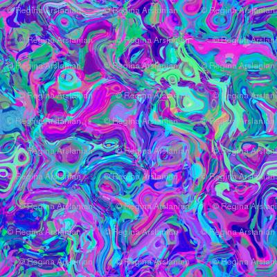 Organic Swirls, Blues and Violets