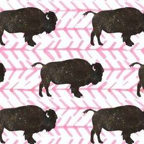 """4"""" Buffalo with Light Pink Arrows"""