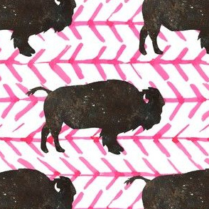 """5"""" Buffalo with Bright Pink Arrows"""