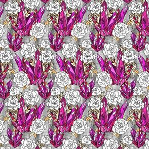Pink Crystal Floral