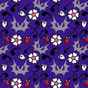 Berry Floral Bat Party Coordinate 2