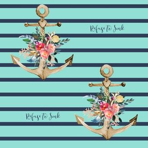 """7"""" Refuse to Sink Teal Background"""