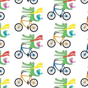 Alligators on bikes MEDIUM