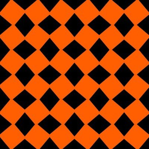 Wonky Orange Halloween Harlequin