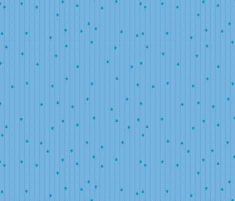 Jack and Jenny Rain Medium Blue fabric by lauriewisbrun on Spoonflower - custom fabric