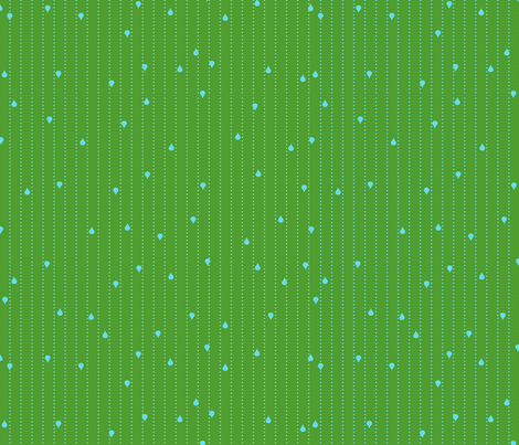 Jack and Jenny Rain Green Blue fabric by lauriewisbrun on Spoonflower - custom fabric