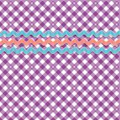 Frolic* (Lavender Disaster) || gingham check star stars starburst spring summer rick rack notion sewing smock smocking waves vintage trim retro 70s
