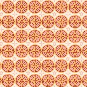 Summer Boho Circle Block Print