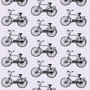 Bikes on Purple Graph Paper