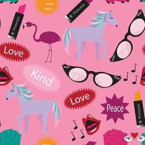Horse - Wacky Peace Love, Wacky, Hedgehog, Love pink, Lipstick, zany