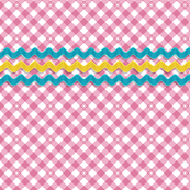 Frolic* (Pink Cow) || gingham check star stars starburst spring summer rick rack notion sewing smock smocking waves vintage trim retro 70s pastel