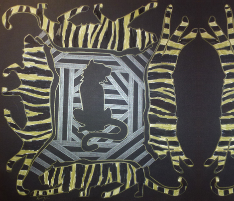 Tiger Striped fabric by karry_l on Spoonflower - custom fabric