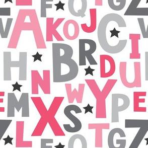 pink-and-grey alphabet