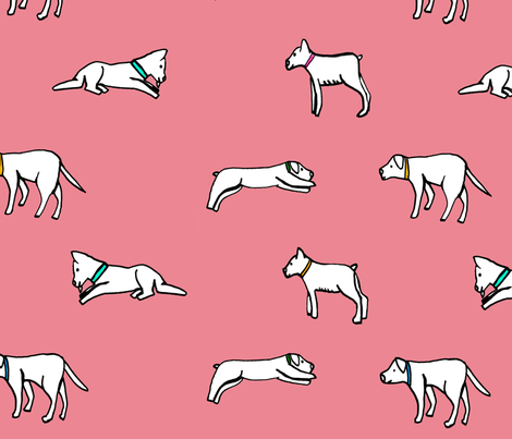 DogPrint fabric by joliecopin on Spoonflower - custom fabric
