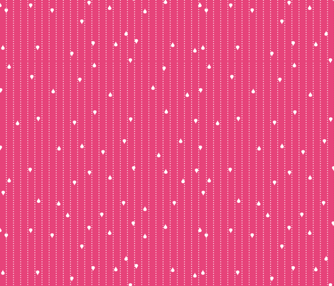 Jack and Jenny Rain Medium Pink fabric by lauriewisbrun on Spoonflower - custom fabric