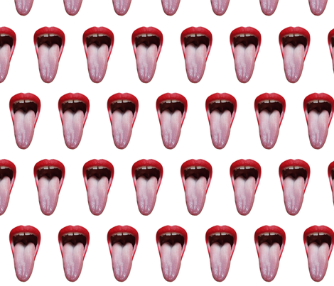 Say Ahh!  fabric by kostonkreme on Spoonflower - custom fabric