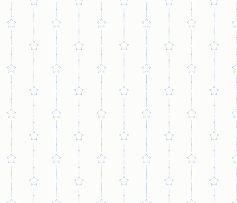 Starry Stripe Light: Chambray Blue & Off-White fabric by dept_6 on Spoonflower - custom fabric