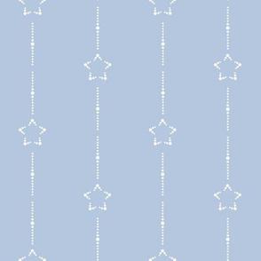 Starry Stripe : White Stars, Chambray Blue 5