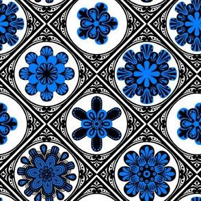 High Contrast Blue Tiles 1