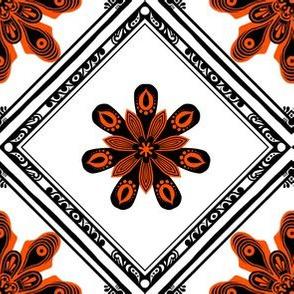 High Contrast Orange Tile 1