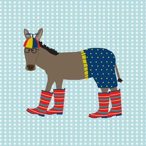 Donkey in Beanie Fat Quarter
