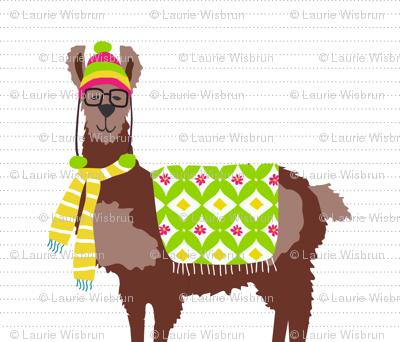 Spring Llama Pillow