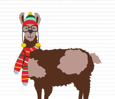 oh la llama pillow fabric by lauriewisbrun on Spoonflower - custom fabric